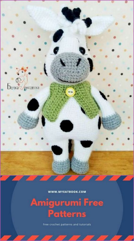 Amigurumi Crochet Cow Pattern by Little Bear Crochets | 1024x569
