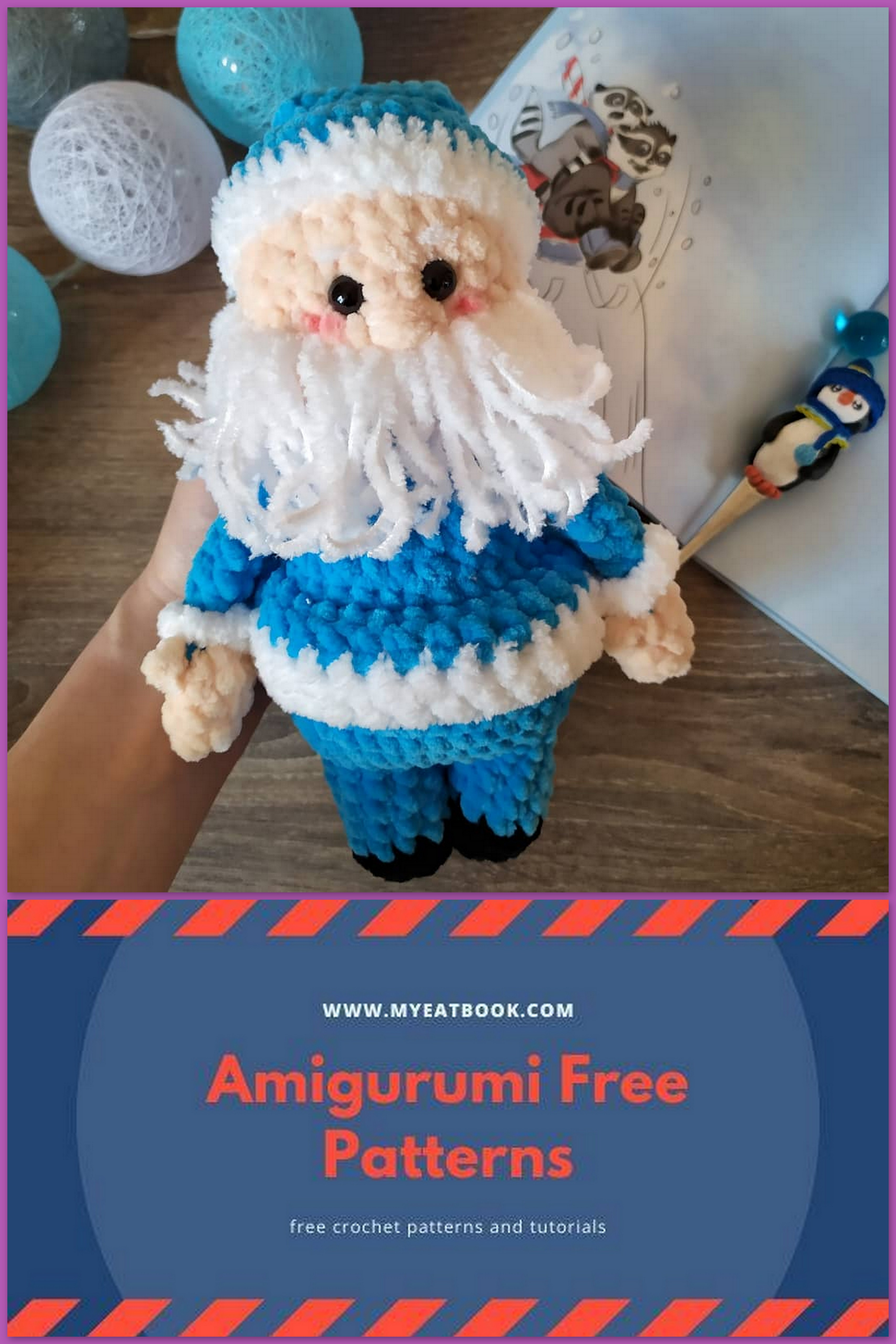 Amigurumi Santa Claus Crochet Pattern And Reindeer Toy Crochet ... | 5120x3414